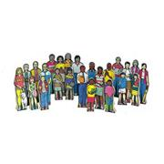 Wedgies Multicultural Family Set (set of 24)