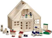 Melissa &amp; Doug Dollhouse and Furniture 