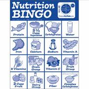 MyPlate Nutrition Bingo