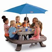 Little Tikes� Fold N Store Picnic Table with Umbrella