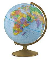 Explorer Globe, 12&quot; diameter, 16&quot; high