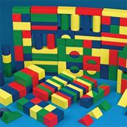 Colored Wooden Block Set  (set of 65)