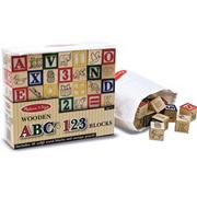 Melissa &amp; Doug Wooden ABC/123 Blocks  (set of 50)