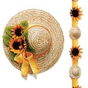 14&quot; Straw Hats  (pack of 6)