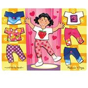 Melissa &amp; DougGirl Dress-Up Mix &#039;n Match Peg Puzzle