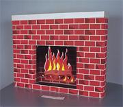 Corobuff��Cardboard Fireplace Decoration