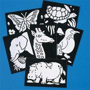 Pop Art Boards - Animals  (pack of 12)