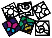 Junior Stained Glass Frames  (pack of 24)