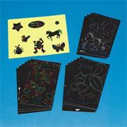 Scratch-Art Stickers  (pack of 160)