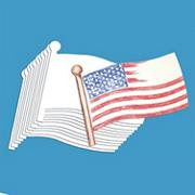 US Flag Design Paper  (pack of 24)