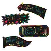 Scratch-Art� Signs  (pack of 12)