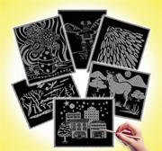 "Scratch-Art� Pattern Paper, 8-1/4"" x 11"" (pack of 60)"