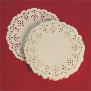 4-1/2&quot; Round Shaped Doilies - White  (pack of 100)