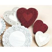 6-1/2&quot; Round Shaped Doilies - White  (pack of 100)