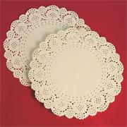 8&quot; Round Paper Lace Doilies - White  (pack of 100)
