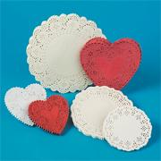Heart-Shaped Paper Lace Doilies, 4&quot;  (pack of 100)