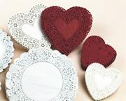 Heart-Shaped Paper Lace Doilies, 6&quot; (pack of 100)