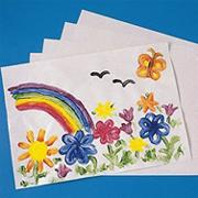 White Finger Paint Paper, 16&quot;x22&quot;  (pack of 100)