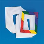 White Precut Mats 5&quot;x7&quot;  (pack of 12)