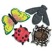 Plastic Mold Set - Bugs  (set of 4)