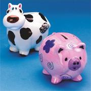 Color-Me Cow Bank  (pack of 12)