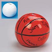 Color-Me� Ceramic Basketball Bank  (pack of 12)