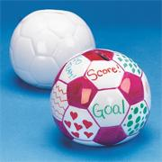 Color-Me Ceramic Soccer Ball Bank  (pack of 12)