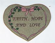 Decorative Mat - Faith Heart Mat