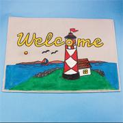 Welcome Lighthouse Decorative Mat