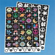 Velvet Art Stickers (pack of 12)