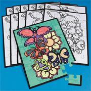 Velvet Art Butterfly Puzzles (pack of 12)