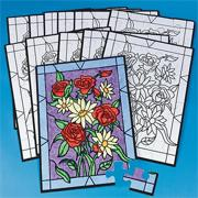 Velvet Art Flower Bouquet Puzzles (pack of 12)