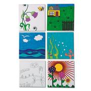 Color-Me Canvas Boards (pack of 12)