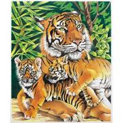 Tiger and Cubs Pencil-by-Number