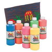 16-oz. Color Splash! Fluorescent Paint Liquid Tempera  (pack of 6)