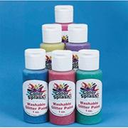 1-oz. Color Splash! Asst. Washable Glitter Paint  (pack of 6)