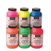 Sargent Art16-oz. Washable Fluorescent Finger Paint  (pack of 6)
