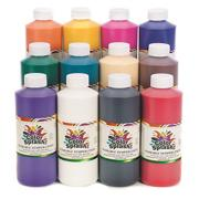 Color Splash!� Washable Tempera Paint, 16 oz. (set of 12)