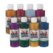Color Splash! Washable Glitter Paint, 8 oz. Assortment (pack of 8)
