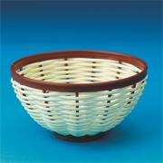 "Plastic Weaving Baskets 5""D x 2-1/2""  (pack of 12)"