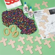 Shell Cross Necklace Craft Kit (makes 16)