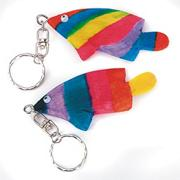 Gone Fishin' Wooden Key Chains Craft Kit (makes 12)