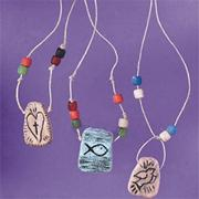 Testament Tablet Necklace Craft Kit  (makes 36)