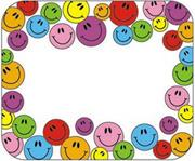 Self-Adhesive Name Tags - Smiley Face  (pack of 40)