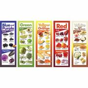 Fruits and Vegetables By Color Posters (set of 5)