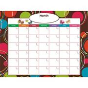 Go Write! Dry-Erase Calendar, Dots Delight
