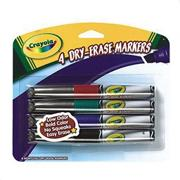 Crayola� Dry Erase Markers Pack of 4 (pack of 4)
