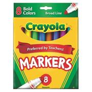 CrayolaClassic Markers, Bold Colors  (box of 8)
