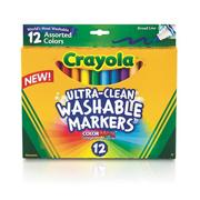 Crayola Washable Markers, Conical Tips  (box of 12)