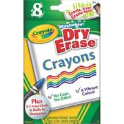Crayola Washable Dry Erase Crayons  (box of 8)
